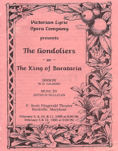 The Gondoliers program 1995